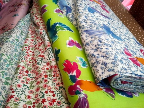 Fabric market.