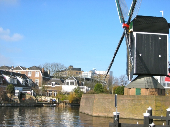 Sometimes canals have windmills on them.