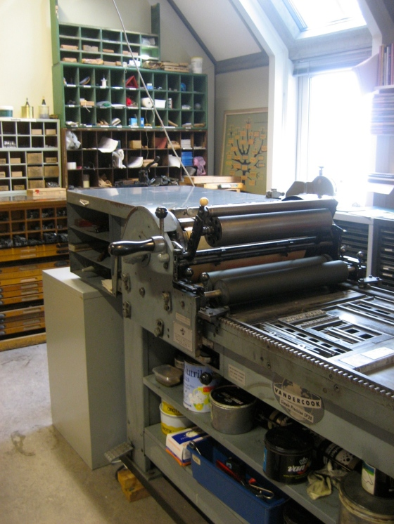 Our very own printing press.