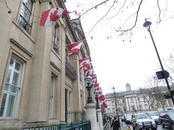 Canada House!  Right on Trafalgar Square.