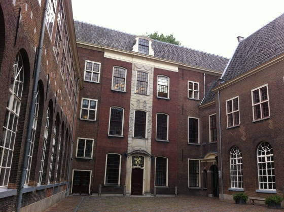 A beautiful old orphanage, hidden right by the popular Hooglandsekerk.