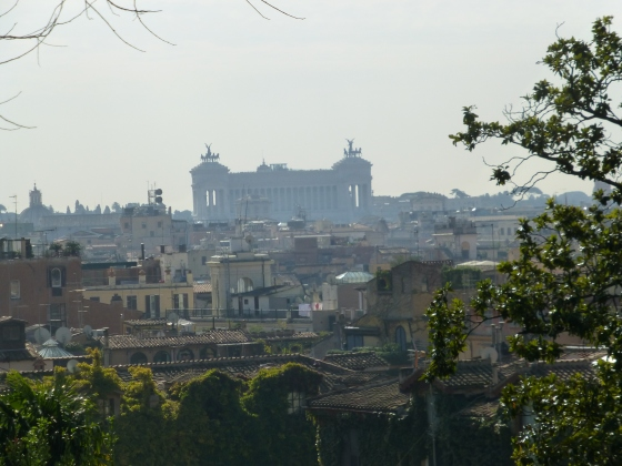 View on the way to the Villa Medici.